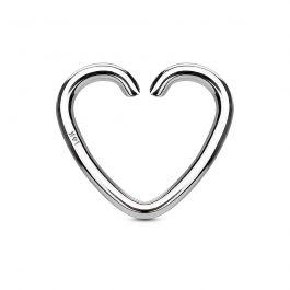 Piercing pour l'oreille en or 14 carats en forme de coeur